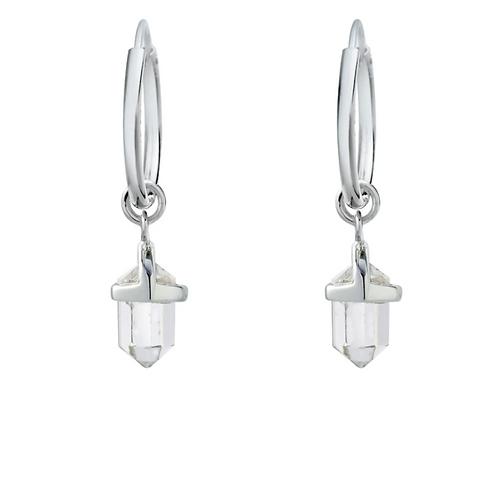 Empress Crystal Sterling Silver Earrings