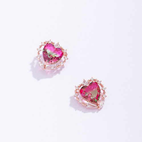 Love Circled Heart Earring - MOOII