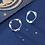 Thumbnail: Silver Wave Hoop Sterling Silver Ear Studs - MOOII