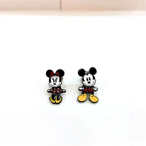 MOOII Ear-Stud Mickey and Minnie V1