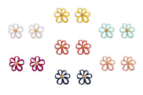 Hollow Out Single Flower Earrings - MOOII