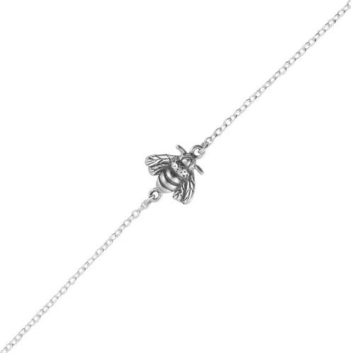 Pollination Bee Sterling Silver Bracelet