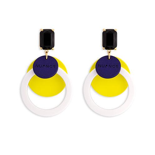 Color Double Circle Earrings - MOOII
