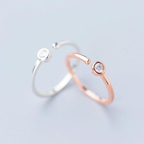 Minimalist Stud Open Ring