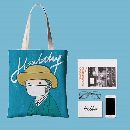 Mooii Classic Tote Bag Portraits With Face Mask On