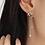 Thumbnail: Heart Shape Pearl Stone Asymmetric Pearl Drop Earring - MOOII