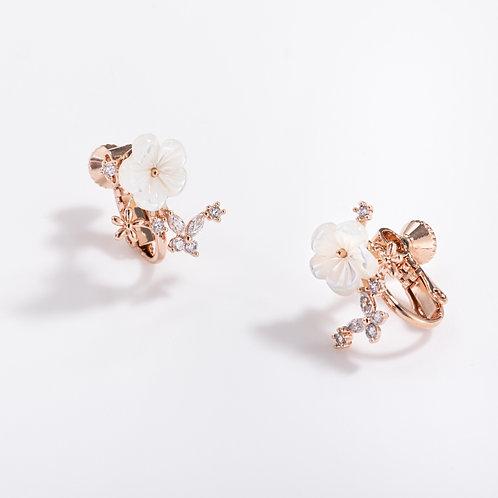 MOOII Flower Clip on Earring