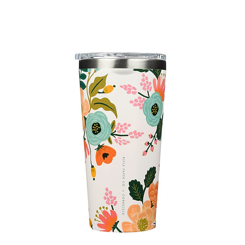 Corkcicle Rifle Paper Tumbler 475ml - Cream Lively Floral