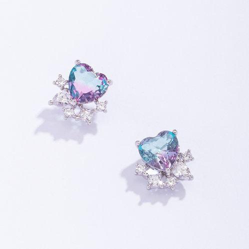Heart Crystal Earrings - MOOII