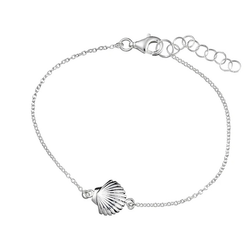 Seashell Sterling Silver Bracelet