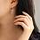 Thumbnail: Crescent Moon Asymmetric Earring - MOOII