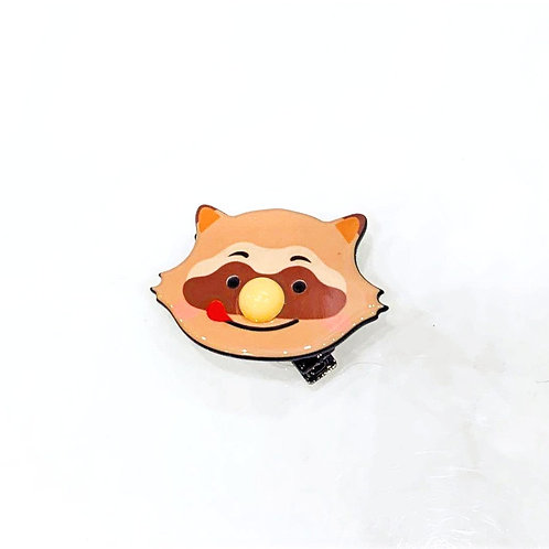 MOOII Resin Hair Clip Raccoon