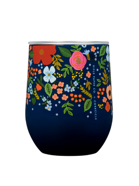 Corkcicle: Rifle Paper Stemless 355ml - Wild Rose