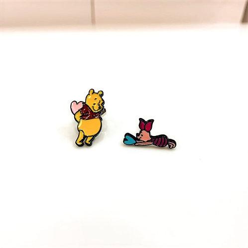 MOOII Ear-Stud Winnie Pooh and Piglet