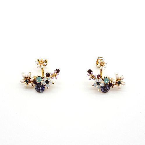 Garden Curve Bar Earrings - Mooii