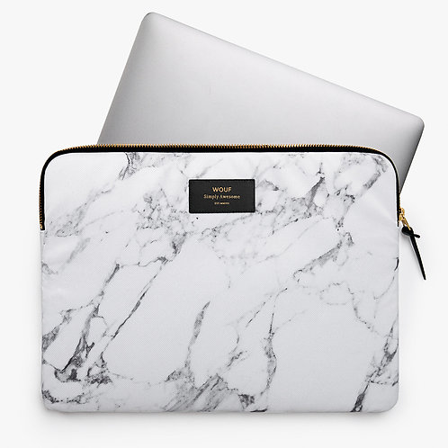 Laptop Sleeve White Marble Wouf