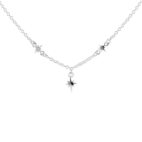 Celestial Star Sterling Silver Necklace