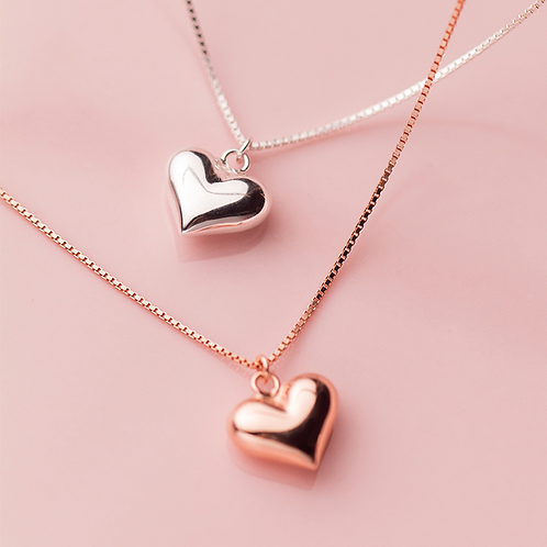 Sterling Silver Mini Heart Necklace - MOOII