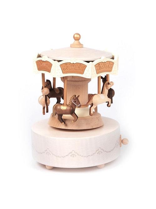 Wooderful Life Carousel Music Box