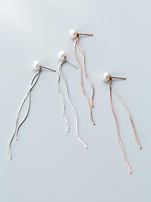 Pearl Tassel Earrings - MOOII