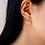 Thumbnail: Butterfly Ear Jackets Gold