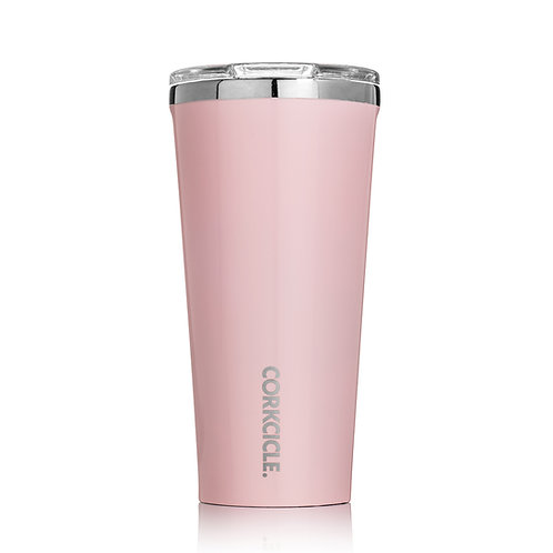 Corkcicle Rose Quartz Insulated Stainless Steel Cup Tumbler 475ml