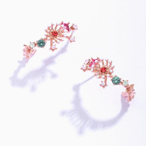 Flower Stamen Arc Earring - MOOII