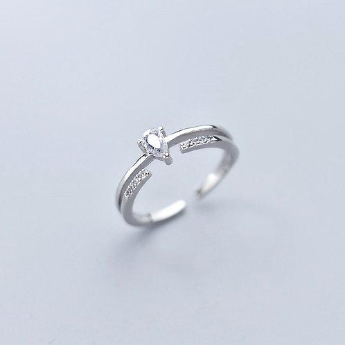 Eternity Water Drop Ring