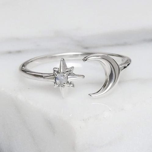 Nebula Dreams Moonstone Sterling Silver Ring