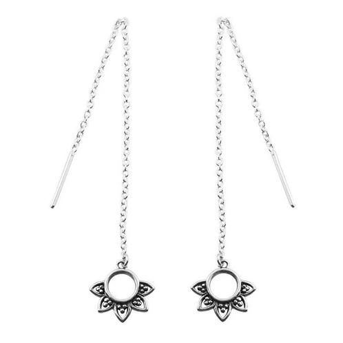Rising Sun Sterling Silver Threader Earrings
