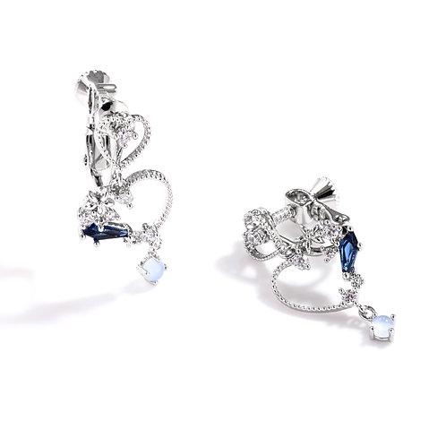 Lea's Love Hearts Clip on Earrings