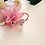 Thumbnail: Heart Shaped Cubic Zirconia Open Floral Ring - MOOII