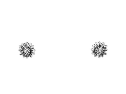Delicate Sunflower Sterling Silver Studs
