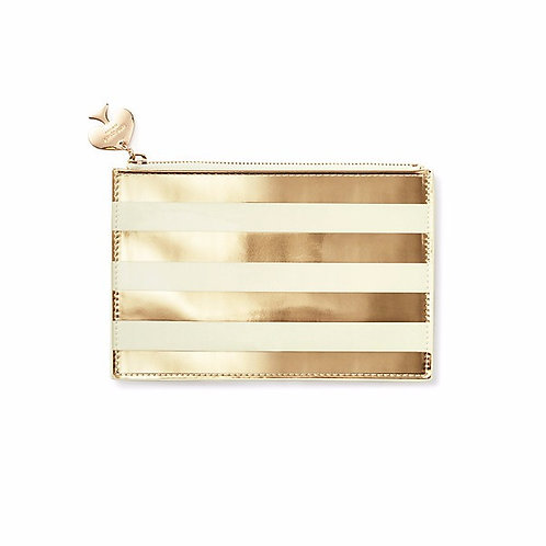 Kate Spade Gold Stripe Pencil Pouch