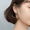 Thumbnail: Enamel Teal and Gold-Tone Butterfly Ear Studs - MOOII
