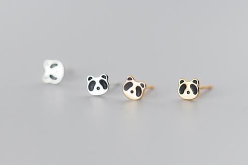 Panda Face Tiny Ear Studs - MOOII