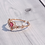 Thumbnail: MOOII Crystal and Heart Wreath Ring