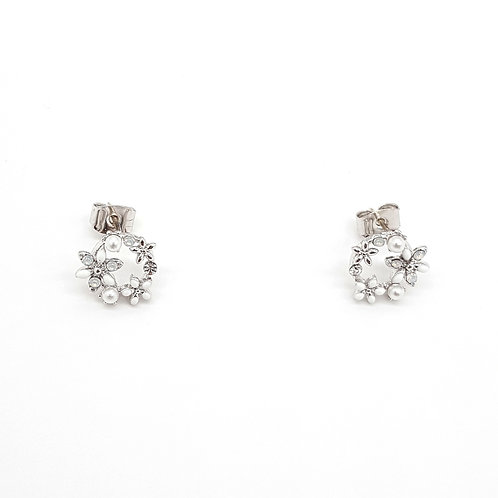 Floral Round Earring