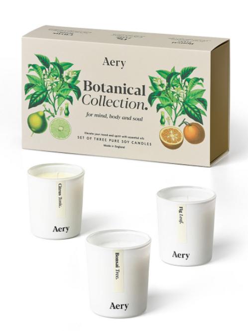 Aery Living: Botanical Votive 3 Candle Gift Set Botanical Gift Set