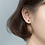 Thumbnail: Isotoxal star Black Crystal Sterling Silver Ear Studs - MOOII