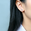 Thumbnail: Bow Tie Micro-Inlay White Crystal Sterling Silver Earrings