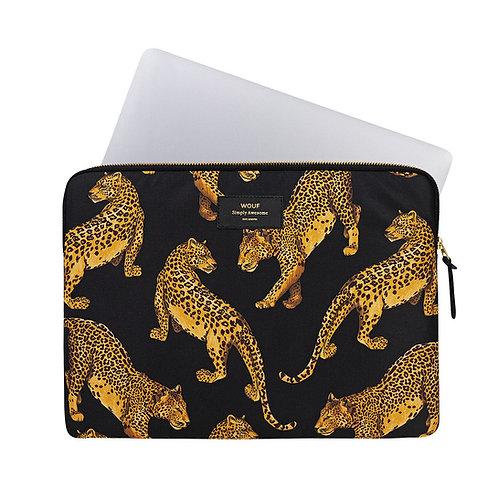 Laptop Sleeve Black Leopard Wouf
