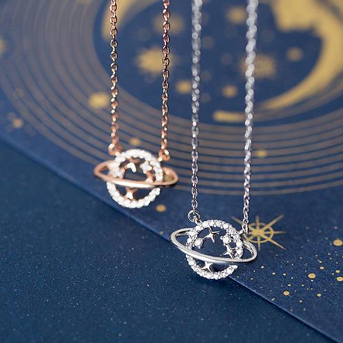 Sparkle Orbit Necklace - MOOII