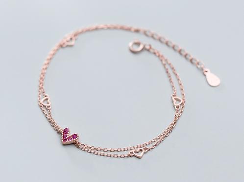 Pink Heart Bracelet - MOOII