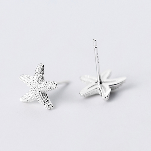 Starfish Sterling Silver Studs- Mooii