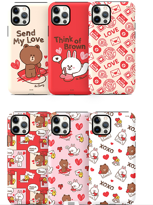 Line Friends Brown and Friends Love Letter Series Guard Up Case