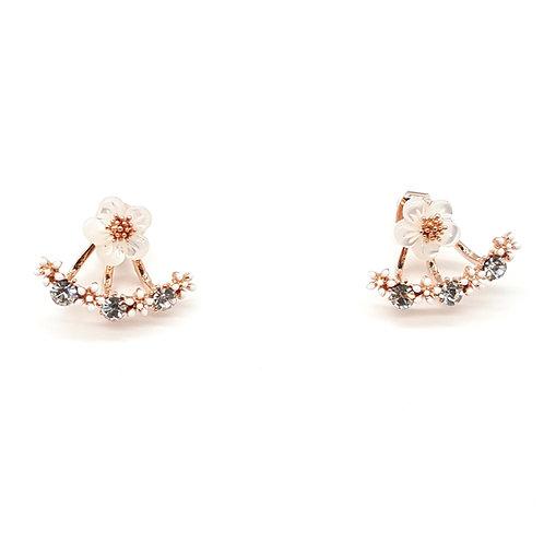 Cherry Blossom Jacket Earring - MOOII