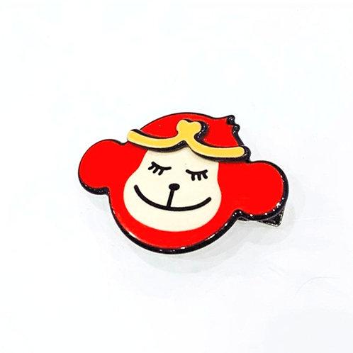 MOOII Resin Hair Clip Red Little Monkey King