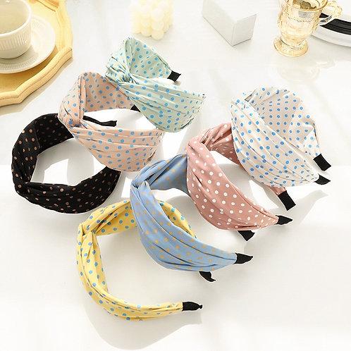 Retro Polka Dot Headband - Summer Range