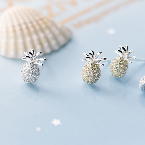 Delicate Pineapple Ear Studs - MOOII